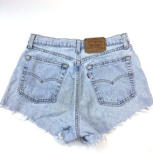 Vintage Levi's high waisted cut off Jean Shorts